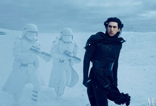 Adam Driver as Kylo Ren in Star Wars the Force Awakens