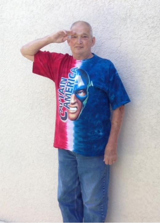 "Captain America.  ""We salute you Cap!"""