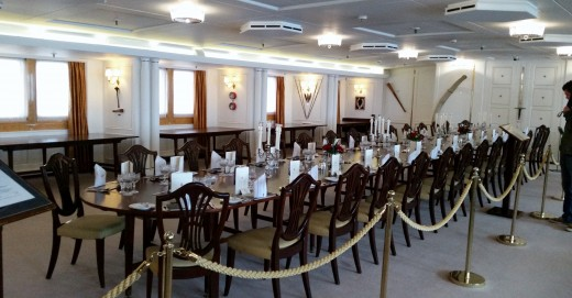 State Dining Room on the Royal Yacht Britannia