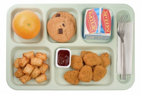 An example of a hot school lunch in the United States