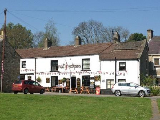 Fox & Hounds near the top of the Green, West Burton, great for food and drinks in a family run pub
