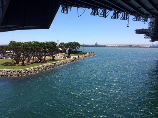 View of the harbor from the USS Midway.