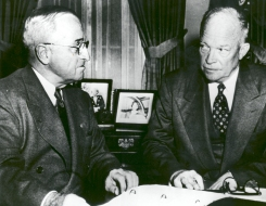 Harry S Truman, Dwight D. Eisenhower:It was a relatively unusual and tough transition