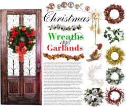 Christmas Wreaths and Garlands for Front Door Decorations