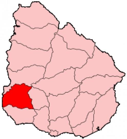 Map location of Soriano Deparment, Uruguay