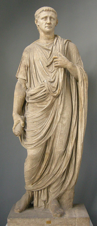 Statue of emperor Claudius wearing a toga