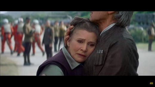 Han and Leia embrace
