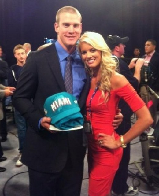 Miami Dolphins QB Ryan Tannehill's wife, Lauren, was the real star of his draft day.