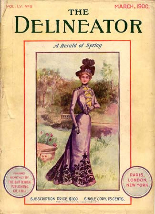 A top fashion magazine of the past.  It featured home sewing projects and patterns.
