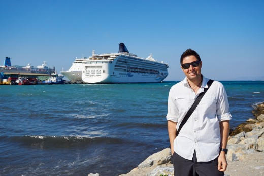 Me with the Norwegian Spirit at Kusadasi, Turkey.