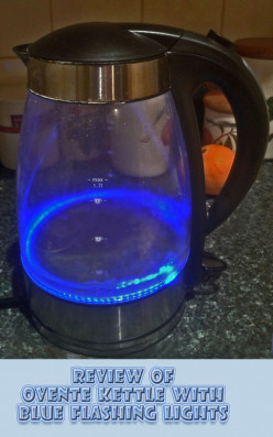 Ovente Glass Electric Kettle with Flashing Blue Lights - a Fun Present