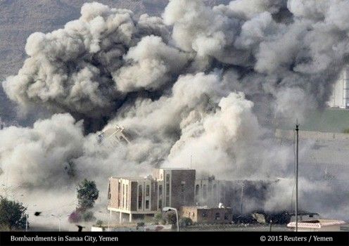 Bombardments in Sana'a City, 2015