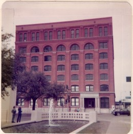 The infamous Book Depository where Lee Harvey Oswald fired the shots that assassinated President John F. Kennedy.