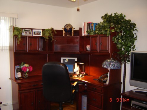 Picture of a Home Office set-up; photo taken by Randi Glazer