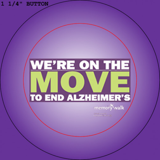 An example of a button someone created for an Alzheimer's Walk.