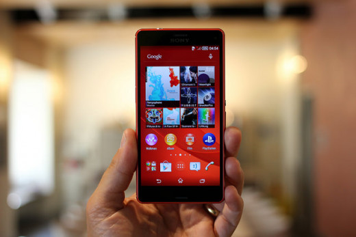 The Sony Xperia Z3 Compact smartphone