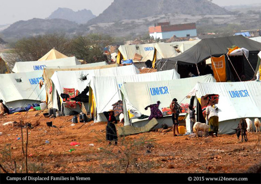 Camps of Displaced Families in Yemen