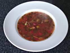 Spicy Beef with Red, Yellow and Green Tomatoes Soup Recipe