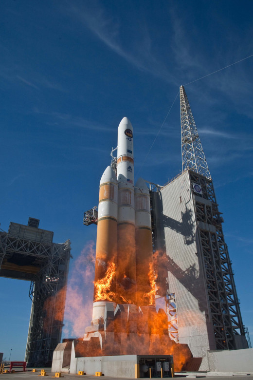 NROL-39 spy satellite being launched