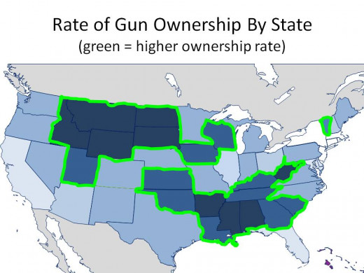 THE GREEN OUTLINE THE STATES WITH THE TWO HIGHEST RATES - CHART 4
