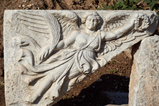 Goddess Nike Statue at Ephesus