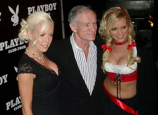 High Hefner with Playboy Bunnies