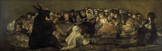 Francisco De Goya's piece depicting a witches' sabbath. Is that Satan or is it actually one of the old pagan gods?