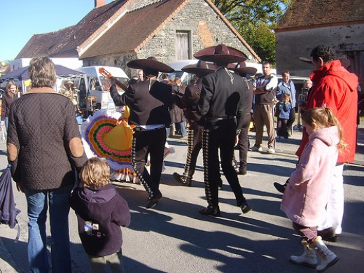 Mariachis in French festival