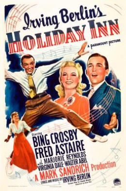 The most popular Christmas song ever, White Christmas, was written and performed for the first time in the movie Holiday Inn