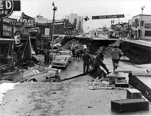 Anchorage Alaska Earthquake Damage 1964