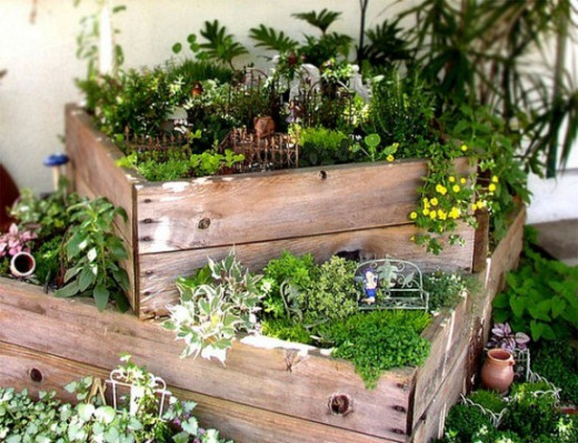 Unique Garden Ideas unusual garden decor home design and decorating This Photo Shows An Easy Setup To Stack Plants Into Different Heights This Creates More