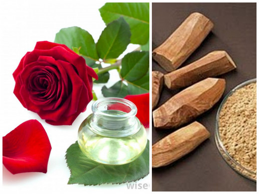 Rose and sandalwood for milia