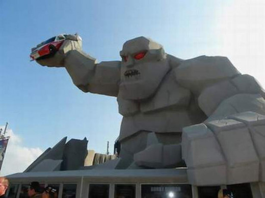 Miles the Monster at Dover Speedway.