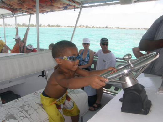 Nicholas was allowed to be captain for several minutes, under supervision, of course