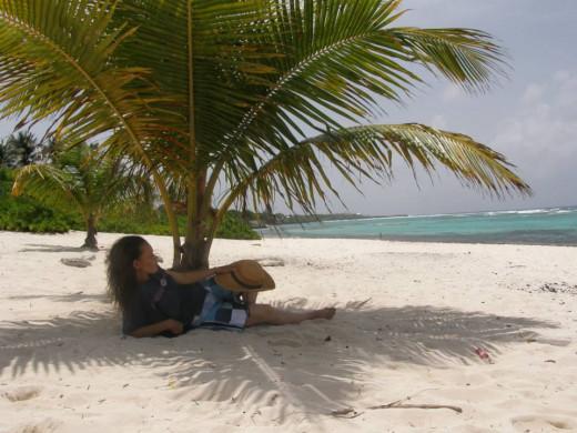 Relaxing on Spotts Bay Cemetery beach