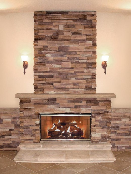 Coronado Stone Fireplace Installation Completed