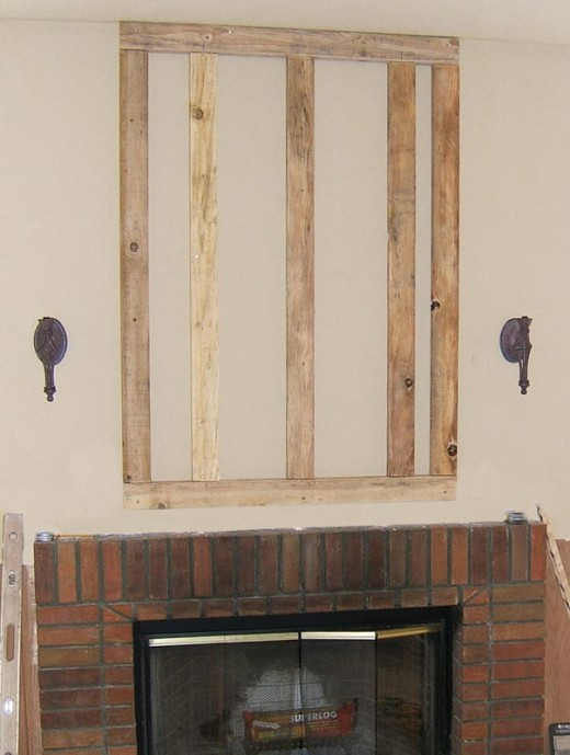 Stone Veneer Fireplace Installation Step 2 - Build Your Wall Out (An option)