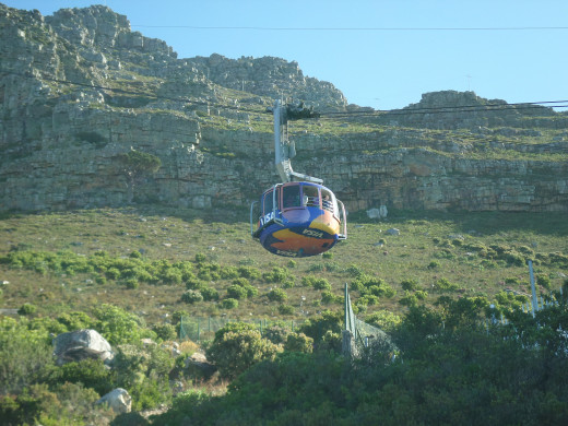 A cable car ride up to the top of Table Mountain is not for those afraid of heights. It is a steep ride and it rotates whilst you are in it, to allow for 360 degree view of Cape Town