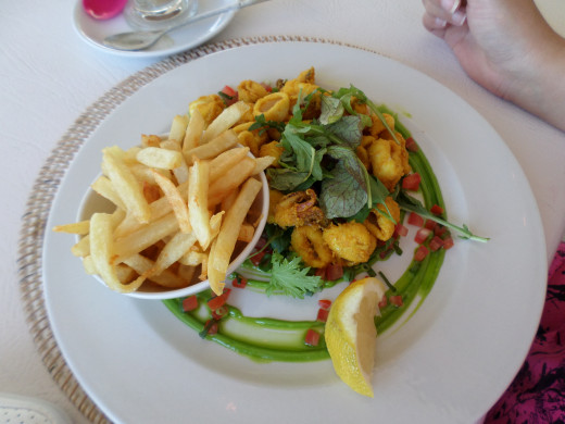 Kalk Bay for Calamari or Fish and Chips while you sit in the restaurant on the rocks, feeling the ocean breeze on your skin