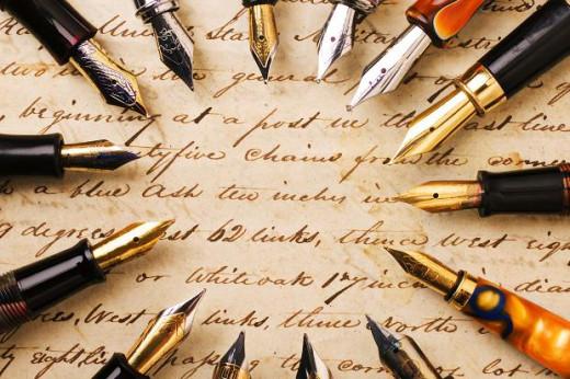 Luxury writing pens