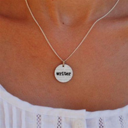 A simple yet classy necklace for writers