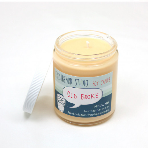 This candle smells like old books; the perfect inspiration!