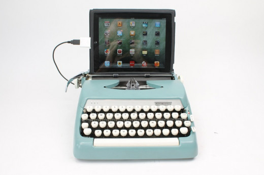 A typewriter that connects to an iPad