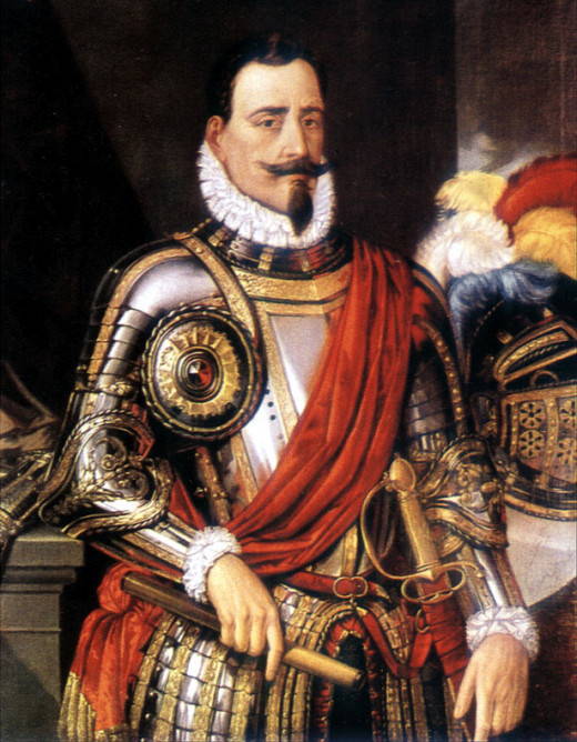 This is a portrait of Pedro de Valdivia