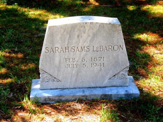Sarah Sams, wife of John Sams