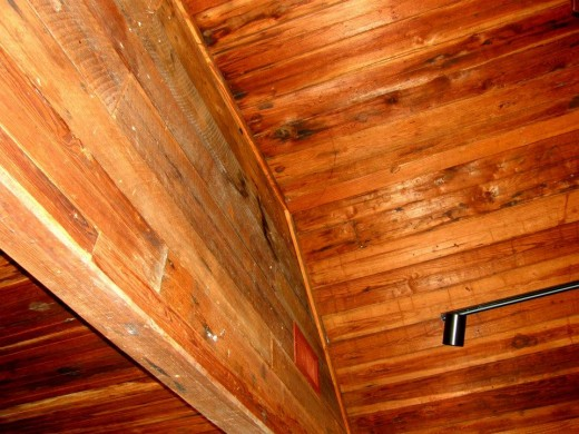Original wooden ceiling