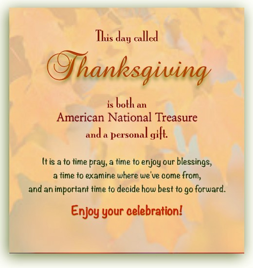 Appreciate Thanksgiving Day!