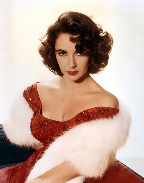 Studio publicity portrait of the American actress Elizabeth Taylor. 1955