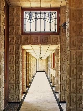 Interior hall, Ennis House, Los Angeles