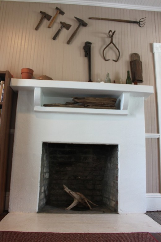 Fireplace inside the House